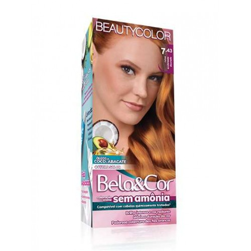 BEAUTY COLOR KIT SEM AMONIA BELA&COR 7.43