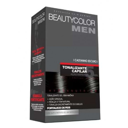 BEAUTY COLOR MEN TONALIZANTE CASTANHO ESCURO 30G