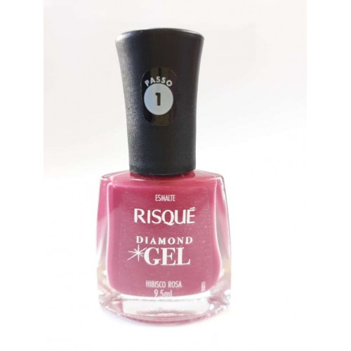 ESMALTE RISQUÉ HIBISCO ROSA DIAMOND GEL 9,5ML