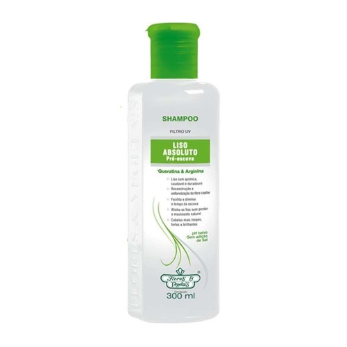 SHAMPOO LISO ABSOLUTO FLORES E VEGETAIS 310ML